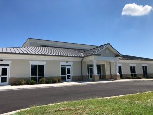 New Fellowship Hall, kitchen, and meeting rooms