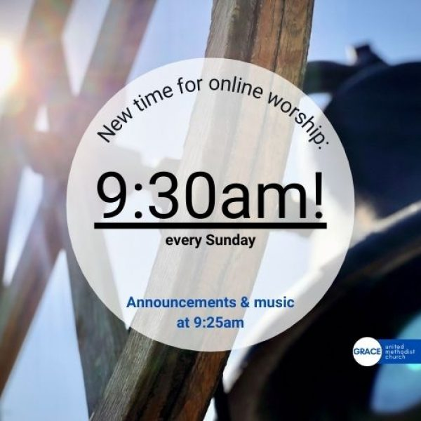 Time Change for Online Worship